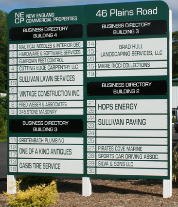 New England Commercial Properties Sign